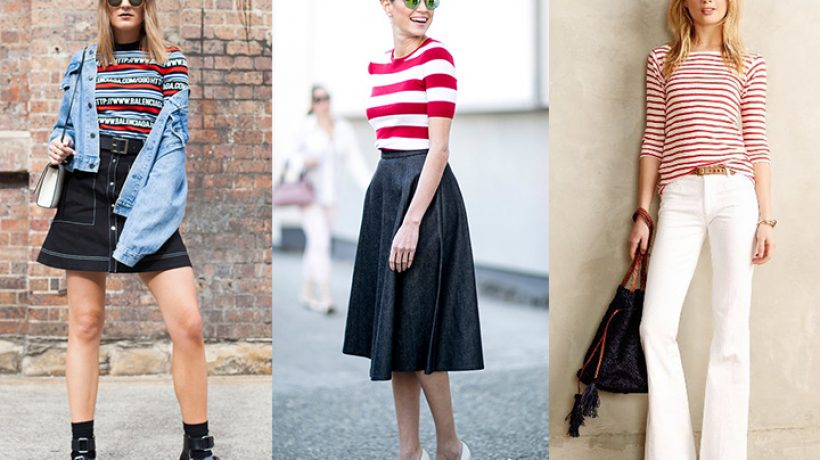 How to wear striped shirt?